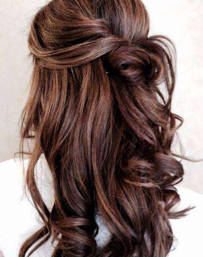 Foto capelli color cioccolato
