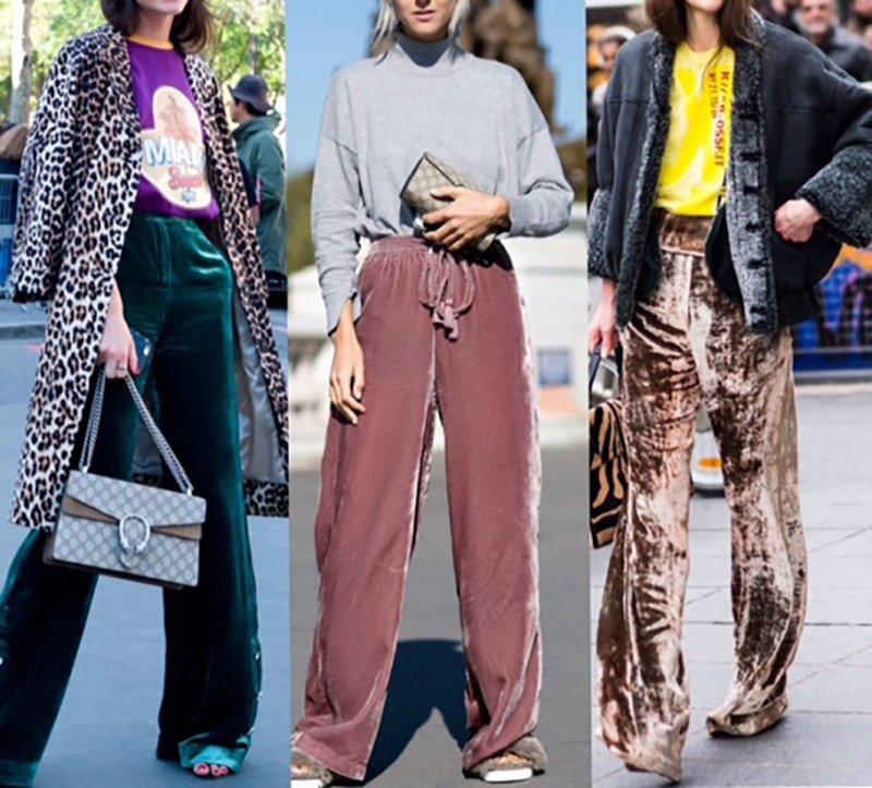 Foto di pantaloni di velluto