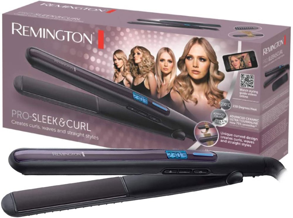 Foto della piastra per capelli Remington Seek & Curl