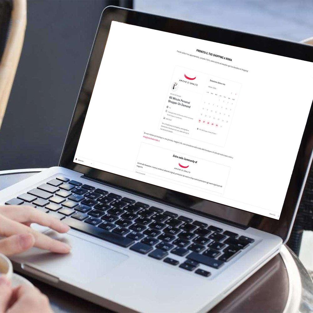 Prenotazione servizio personal shopper online