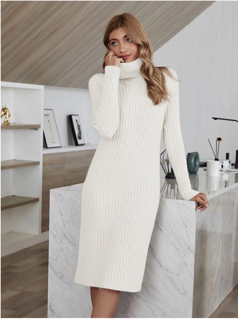 Foto di abito in lana per il look di natale a casa