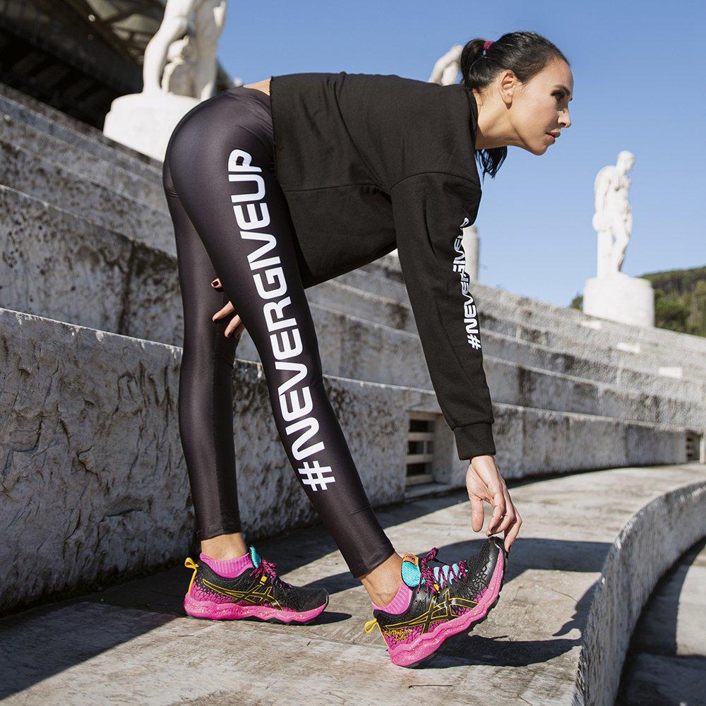 """Foto di leggings sportivi """"Nevergiveup"""