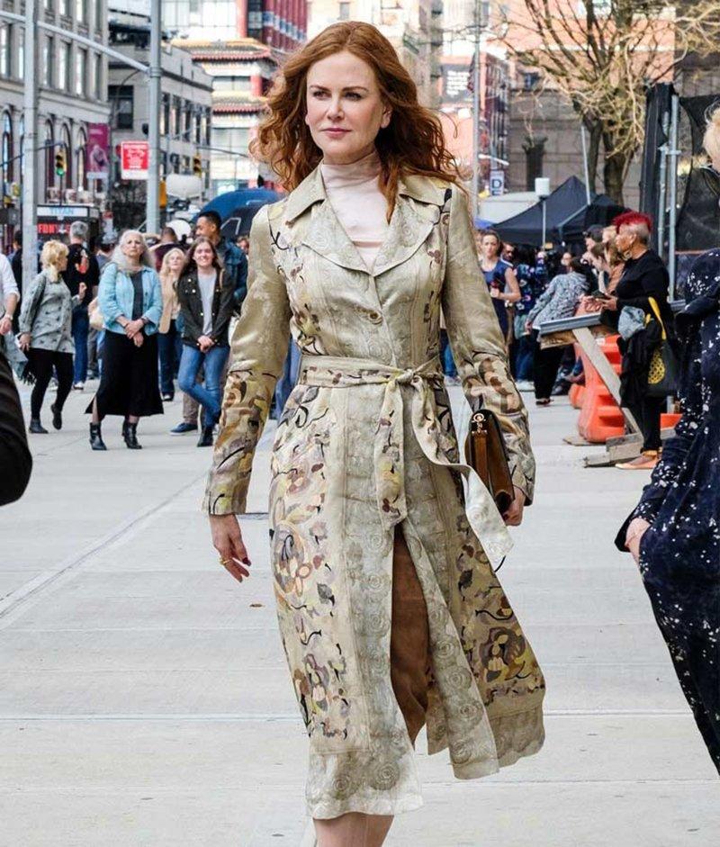 Foto del cappotto Etro di Nicole Kidman in Undoing