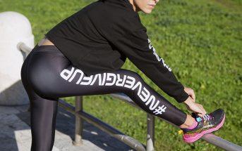 """Foto di leggings sportivi 2021 """"nevergiveup"""""""