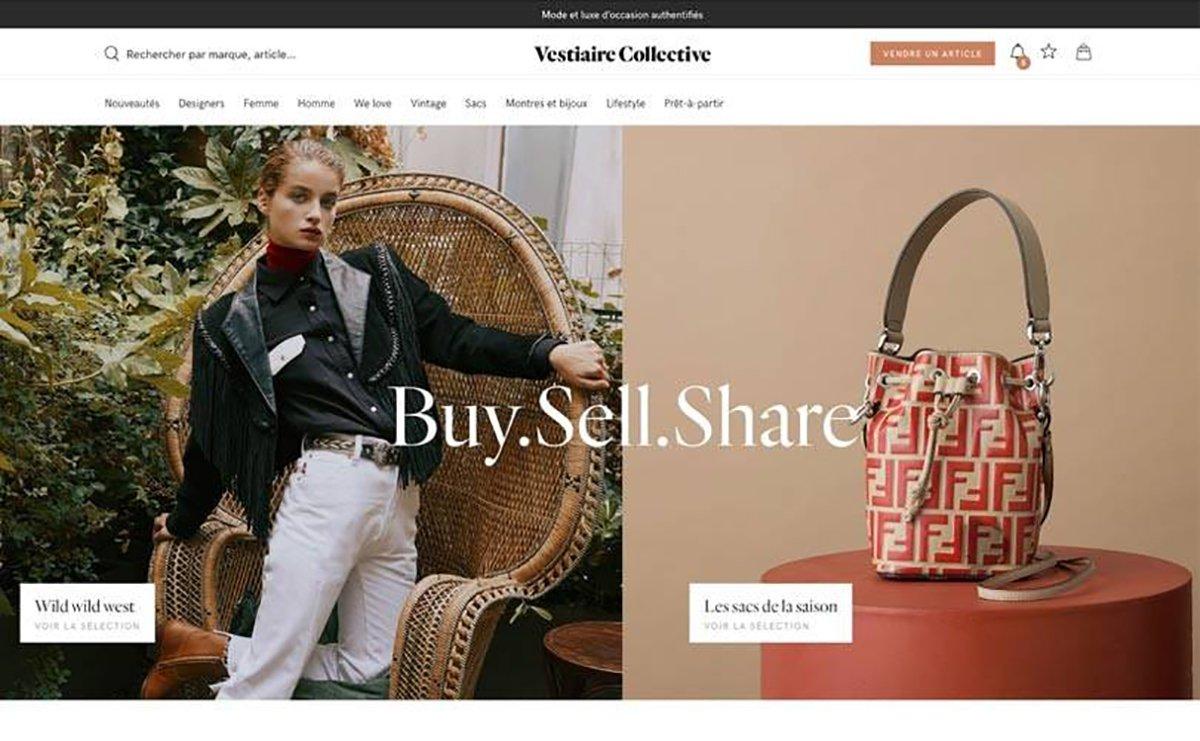 Foto del sito Vestiaire Collective