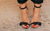Foto di smalto rosso piedi