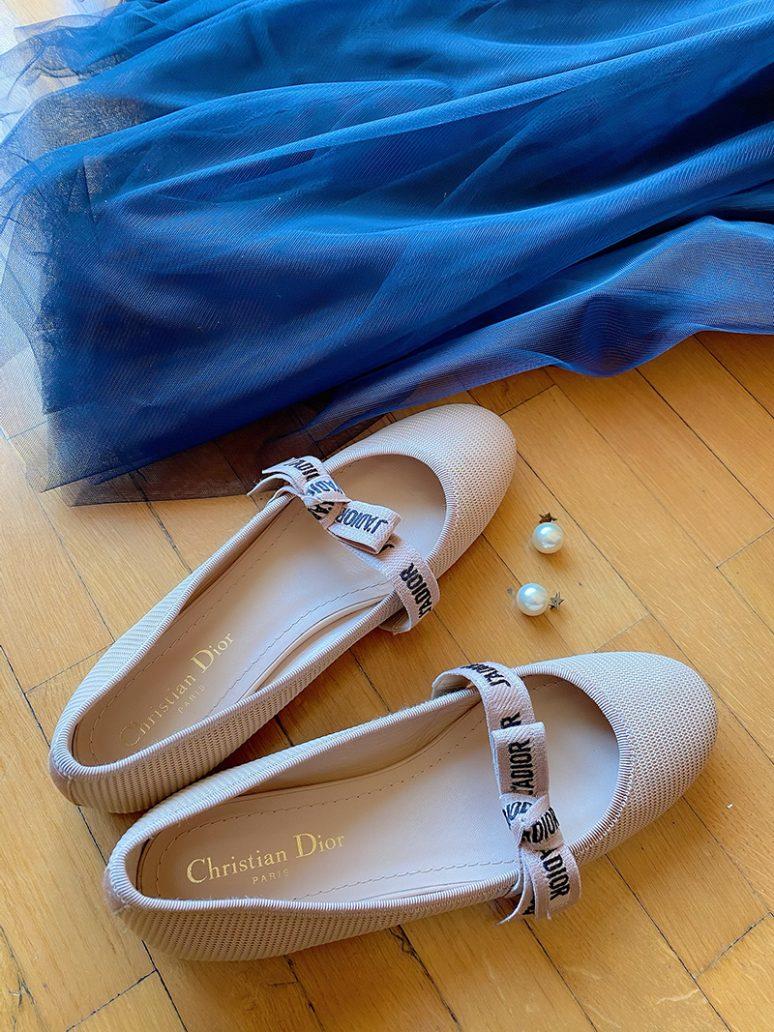 Foto di ballerine Dior tra le scarpe primavera estate 2021