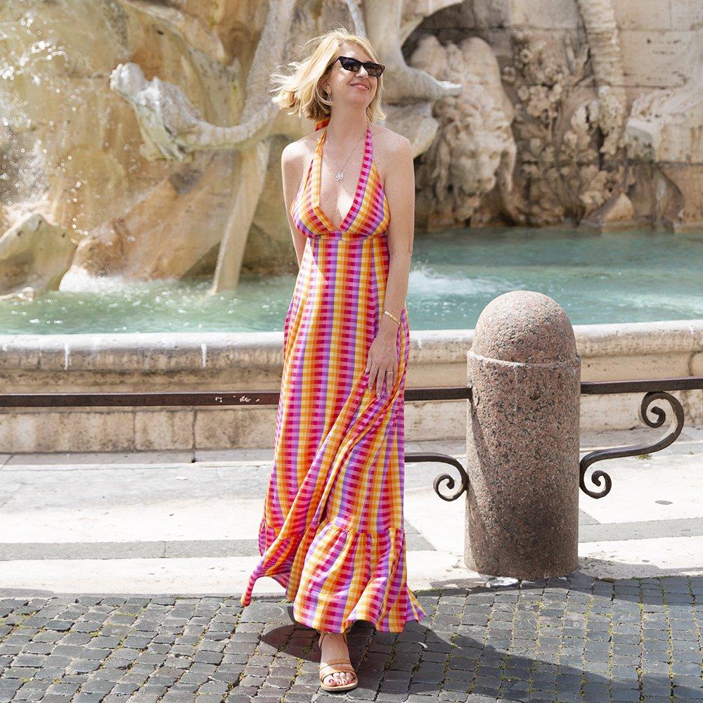 Foto di abito a quadri multicolor di Luluredgrove