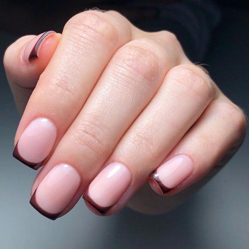 Foto di french manicure colorata