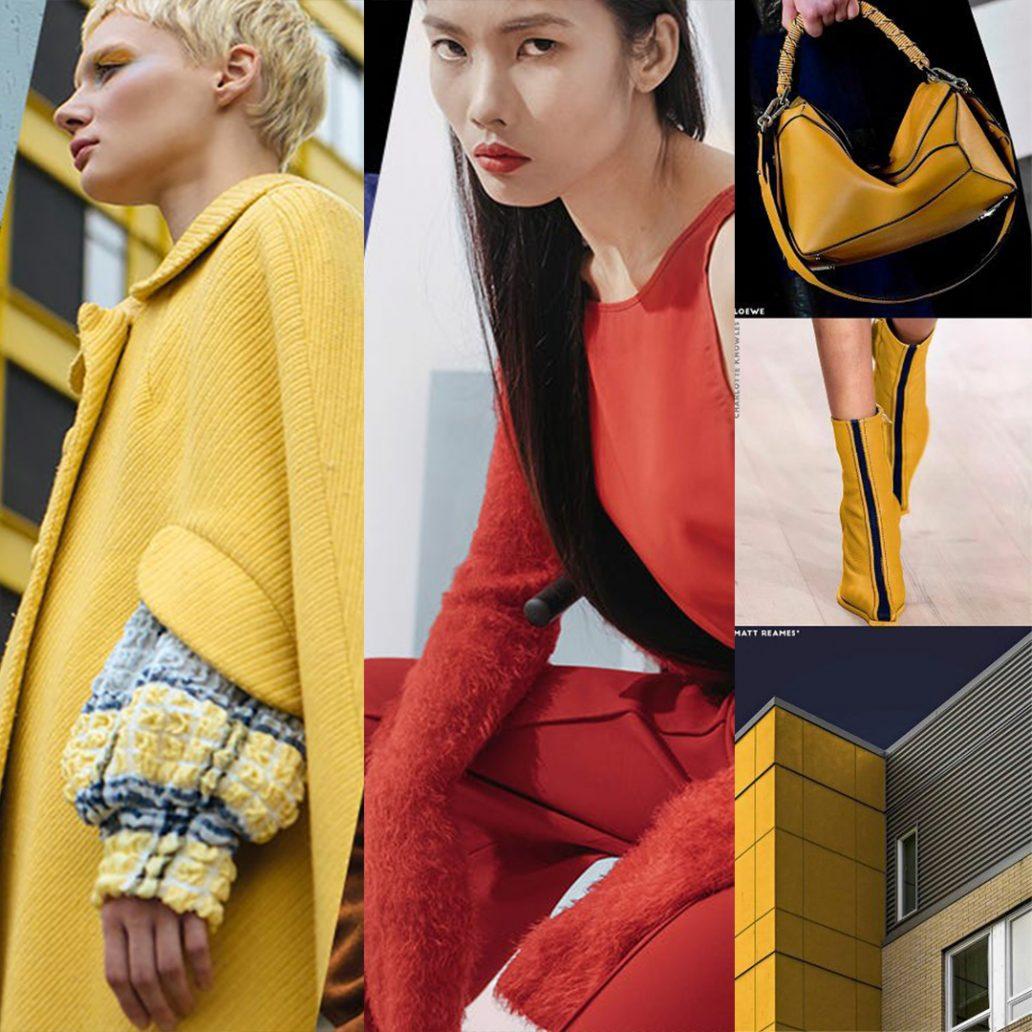 Foto di colori giallo e rosso colori moda