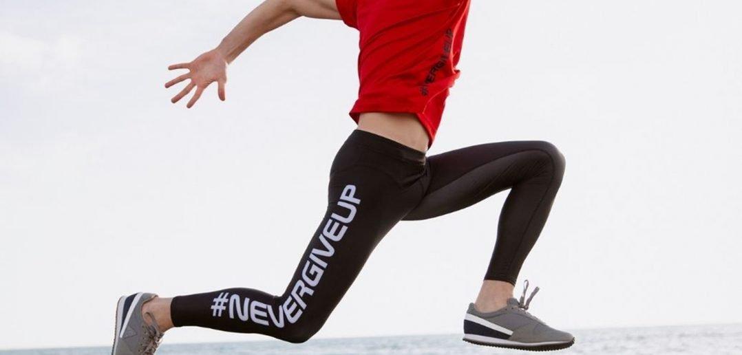 Foto di leggings sportivi uomo Nevergiveup