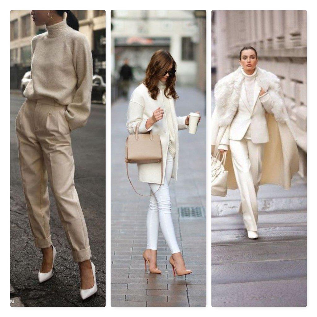 Foto di outfit con maglioni beige